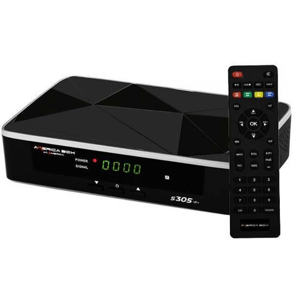 Receptor Americabox S-305+ Plus 4K Ultra HD Wi-Fi ACM