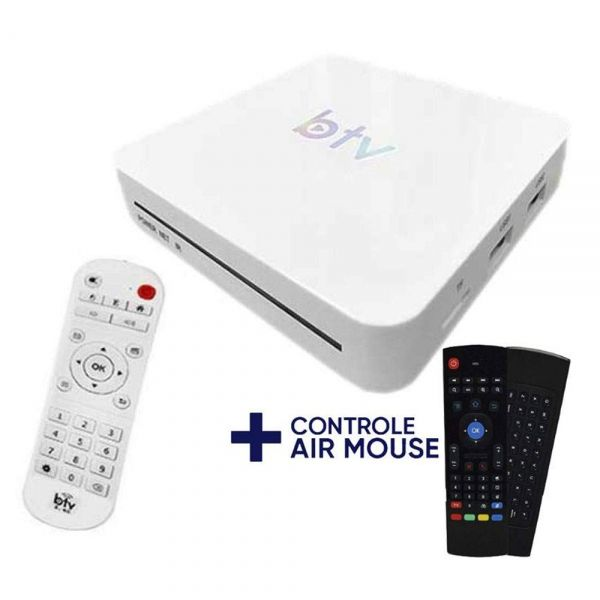 Receptor Btv BX B10 4K Wi-Fi Iptv + Controle Air Mouse